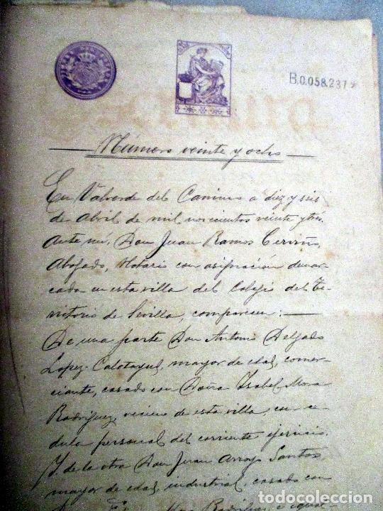 Manuscritos antiguos: VALVERDE DEL CAMINO. ESCRITURAS MANUSCRITAS 1923. - Foto 2 - 114018831