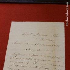 Manuscritos antiguos: CARTA MANUSCRITA FUENTE ALAMO 1898. Lote 114207255
