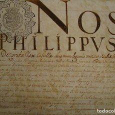Manuscritos antiguos: FIRMA REAL FELIPE IV SOBRE PERGAMINO. CONDENA A GALERAS DE REMO POR ASESINATO. 1658 CONDADO ROSELLÓN. Lote 114288151