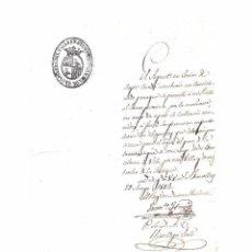 Manuscritos antiguos: GRANOLLERS - EL MASNOU. OFICIO MUNICIPAL DE 1842. ENVÍO GRATIS. Lote 114857455