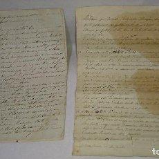 Manuscritos antiguos: ANTIGUOS MANUSCRITOS SOBRE REPARTO DE FINCAS AÑO 1896 - 1899. Lote 114922563