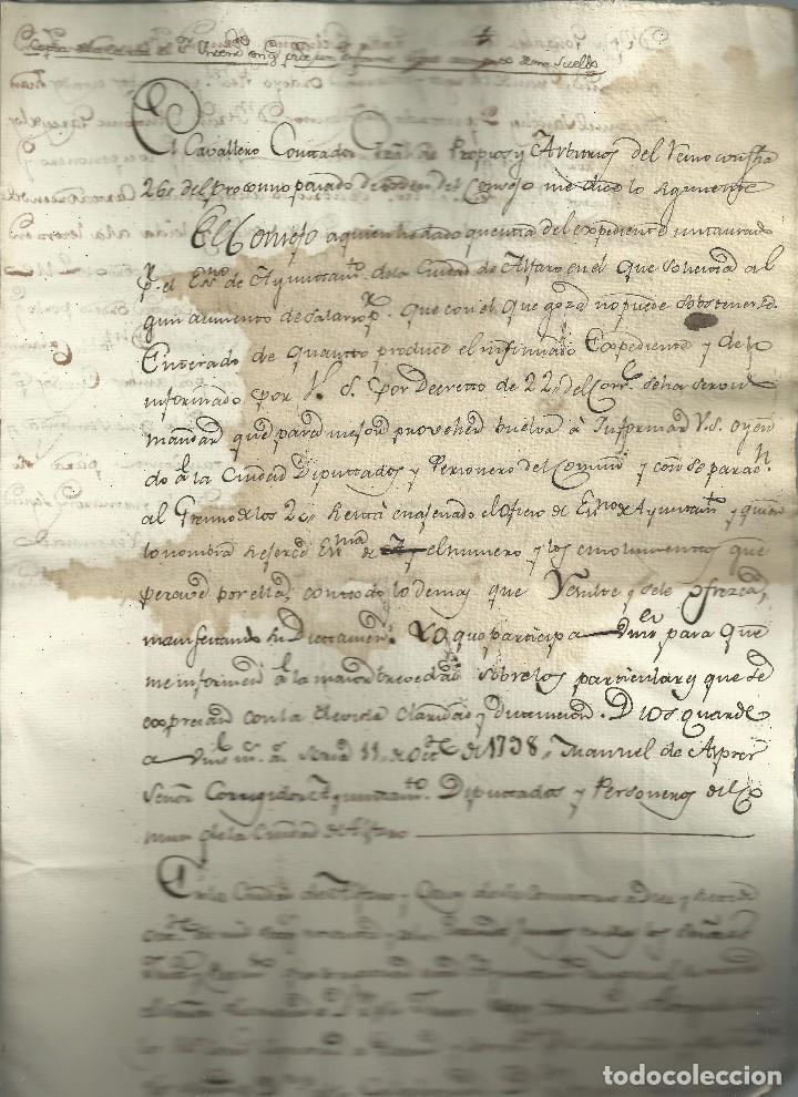 INFORME PARA UN AUMENTO DE SUELDO,1798. (Coleccionismo - Documentos - Manuscritos)