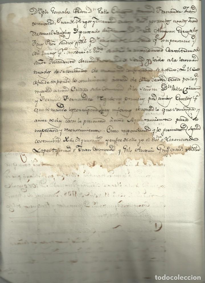 Manuscritos antiguos: Informe para un aumento de sueldo,1798. - Foto 2 - 115038319