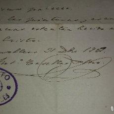 Manuscritos antiguos: 1907 MANUSCRITO. DEANATO DEL VALLES. GRANOLLERS. Lote 115095055
