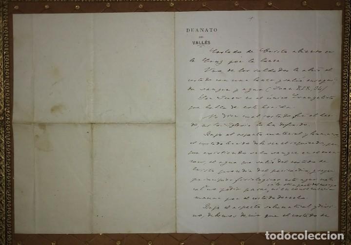Manuscritos antiguos: 1907 Manuscrito. Deanato del Valles. Granollers - Foto 4 - 115095055
