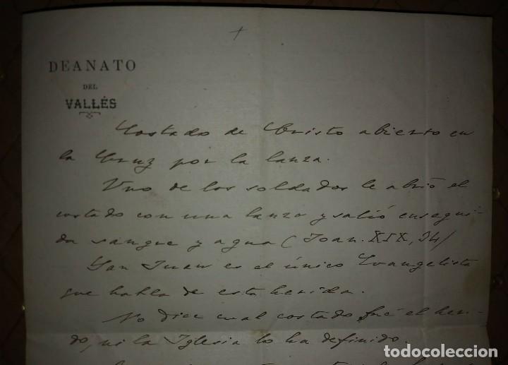 Manuscritos antiguos: 1907 Manuscrito. Deanato del Valles. Granollers - Foto 6 - 115095055