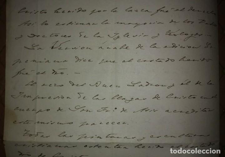 Manuscritos antiguos: 1907 Manuscrito. Deanato del Valles. Granollers - Foto 8 - 115095055