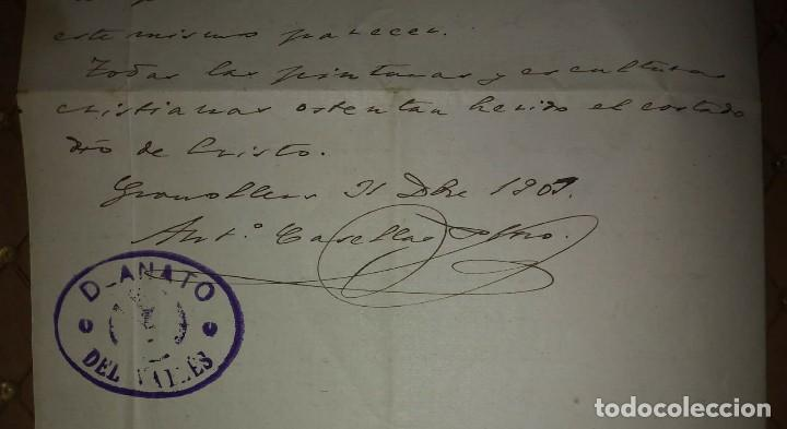 Manuscritos antiguos: 1907 Manuscrito. Deanato del Valles. Granollers - Foto 9 - 115095055