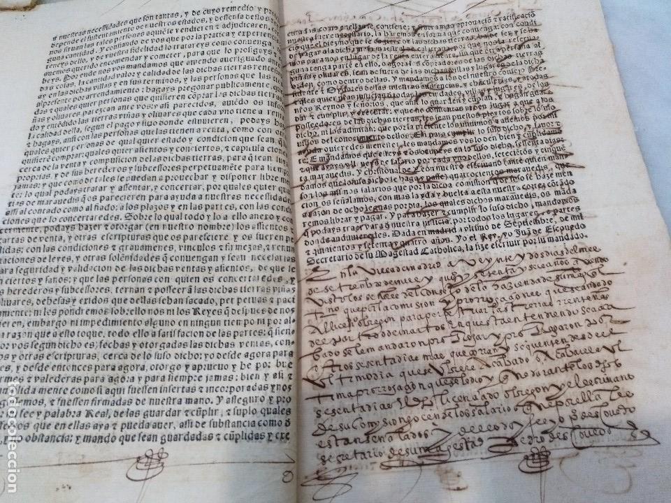 Manuscritos antiguos: ANDALUCIA. IMPRESO Y MANUSCRITO DEL SIGLO XVI. VENTA REAL DE FELIPE II Y SECRETARÍO JUAN DE ESCOBEDO - Foto 2 - 115287327
