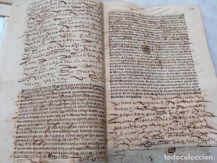 Manuscritos antiguos: ANDALUCIA. IMPRESO Y MANUSCRITO DEL SIGLO XVI. VENTA REAL DE FELIPE II Y SECRETARÍO JUAN DE ESCOBEDO - Foto 3 - 115287327