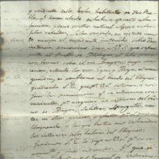 Manuscritos antiguos: GUERRA CARLISTA,BLOQUEO EN MILAGRO 1936.,GENERAL MARCELINO ORAA, 4 PÁG.. Lote 115337063