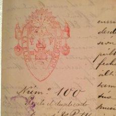 Manuscritos antiguos: COMUNICADO ELÉCTRICA DE HUESCAR AL AYUNTAMIENTO HUESCAR (GRANADA) AÑO 1.910. Lote 115338499