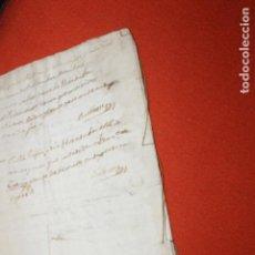 Manuscritos antiguos: ESCRITURA VARIOS SELLOS FISCALES, COMPLETA 1823, 1829, FERNANDO VII, VALENCIA. Lote 115510971