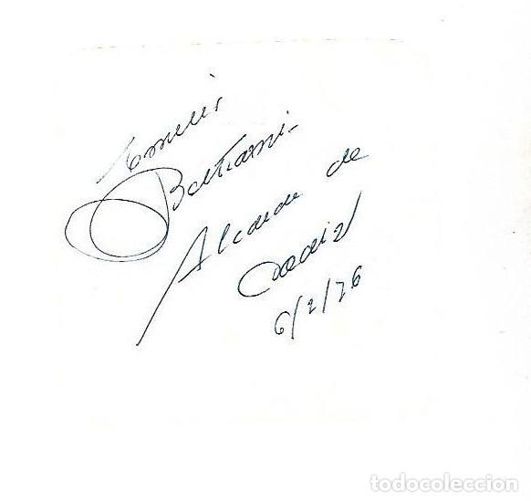 SIGNED. FIRMA. EMILIO BELTRAMI. ALCALDE DE CADIZ (Coleccionismo - Documentos - Manuscritos)