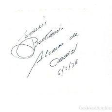 Manuscritos antiguos: SIGNED. FIRMA. EMILIO BELTRAMI. ALCALDE DE CADIZ. Lote 115687103