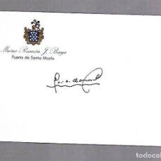 Manuscritos antiguos: SIGNED. FIRMA. JOSE ANTONIO LLANAS ALMUDEVAR. ALCALDE DE HUESCA. Lote 116070927