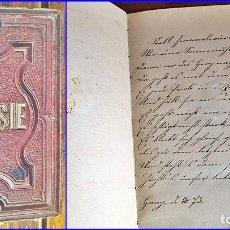 Manuscritos antiguos: LIBRO DE POESÍAS MANUSCRITAS DEL SIGLO XIX.. Lote 116318927