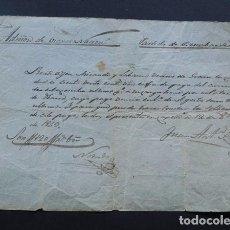 Manuscritos antiguos: MANUSCRITO AÑO 1843 / JOSE MIRANDA VECINO DE GRAUS ( HUESCA ) ARRIENDO TIERRAS MONASTERIO OBARRA. Lote 116343431