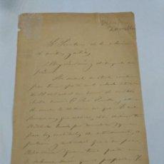 Manuscritos antiguos: DOCUMENTO CON FIRMA DEL PERIODISTA Y POETA CARLOS FRONTAURA. Lote 116362159