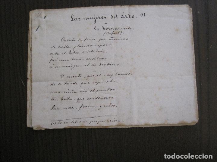 ANTONIO ZOZAYA -MANUSCRITO ORIGINAL FIRMADO-LAS MUJERES DEL ARTE- LA FORNARINA.-VER FOTOS-(V-14.059) (Coleccionismo - Documentos - Manuscritos)