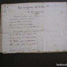 Manuscritos antiguos: ANTONIO ZOZAYA -MANUSCRITO ORIGINAL FIRMADO-LAS MUJERES DEL ARTE- LA FORNARINA.-VER FOTOS-(V-14.059). Lote 116473547