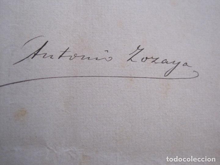 Manuscritos antiguos: ANTONIO ZOZAYA -MANUSCRITO ORIGINAL FIRMADO-LAS MUJERES DEL ARTE- LA FORNARINA.-VER FOTOS-(V-14.059) - Foto 3 - 116473547