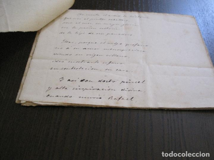 Manuscritos antiguos: ANTONIO ZOZAYA -MANUSCRITO ORIGINAL FIRMADO-LAS MUJERES DEL ARTE- LA FORNARINA.-VER FOTOS-(V-14.059) - Foto 6 - 116473547