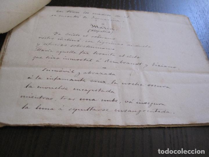 Manuscritos antiguos: ANTONIO ZOZAYA -MANUSCRITO ORIGINAL FIRMADO-LAS MUJERES DEL ARTE- LA FORNARINA.-VER FOTOS-(V-14.059) - Foto 8 - 116473547