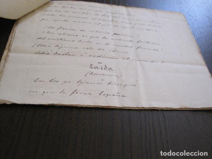 Manuscritos antiguos: ANTONIO ZOZAYA -MANUSCRITO ORIGINAL FIRMADO-LAS MUJERES DEL ARTE- LA FORNARINA.-VER FOTOS-(V-14.059) - Foto 10 - 116473547
