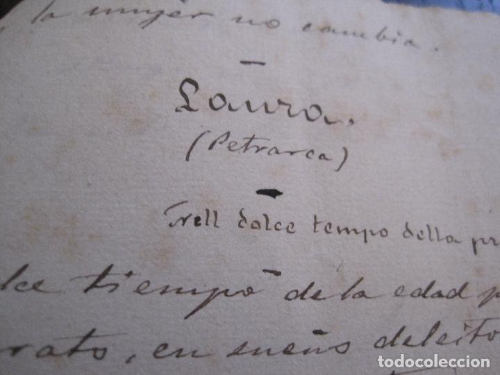 Manuscritos antiguos: ANTONIO ZOZAYA -MANUSCRITO ORIGINAL FIRMADO-LAS MUJERES DEL ARTE- LA FORNARINA.-VER FOTOS-(V-14.059) - Foto 13 - 116473547