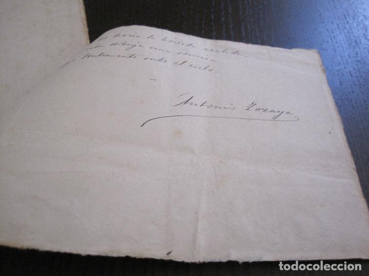 Manuscritos antiguos: ANTONIO ZOZAYA -MANUSCRITO ORIGINAL FIRMADO-LAS MUJERES DEL ARTE- LA FORNARINA.-VER FOTOS-(V-14.059) - Foto 15 - 116473547