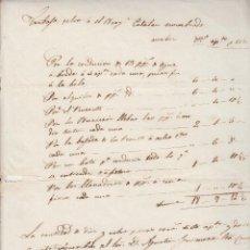 Manuscritos antiguos: TREBALLS DEL BERGANTÍ CATALÀ D'AGUSTÍ GUIMERÀ PARE D'ANGEL GUIMERÀ 1841 MARINA. Lote 116777455