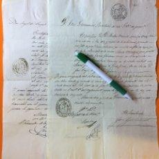 Manuscritos antiguos: VELEZ RUBIO- VELEZ BLANCO- ALMERIA- LORCA- MURCIA- MINAS- DOCUMENTOS 1.850 1.851. Lote 117226443