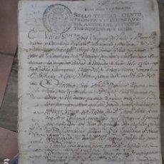 Manuscritos antiguos: MANUSCRITO CARLOS VI CAROLUS MIL SETECIENTOS NOVENTA Y OCHO 1798. Lote 117372519