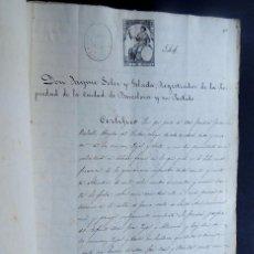Manuscritos antiguos: MANUSCRITO AÑO 1871 ( SELLO 11º ) INFORMACION SOBRE CASA - TORRES EN LA VILLA DE GRACIA DE BARCELONA. Lote 117566819