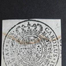 Manuscritos antiguos: SELLO ORIGINAL CARLOS IV - AÑO 1800 APROXIMADAMENTE - TIPO EXLIBRIS - CAROLUS IV. Lote 118241371