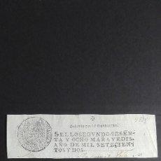 Manuscritos antiguos: FELIPE V, 1702 SELLO SEGUNDO SESENTA Y OCHO MARAVEDIS. Lote 118243199