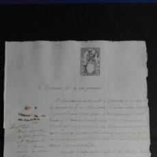 Manuscritos antiguos: PAPEL TIMBRADO SELLO DE OFICIO MORERUELA DE LOS INFANZONES ZAMORA 1866. Lote 118439647
