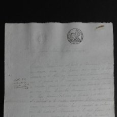 Manuscritos antiguos: PAPEL TIMBRADO SELLO DE OFICIO 4° 40 MS. 1847 VILLABRAZARO ZAMORA 2 FOLIOS. Lote 118440723