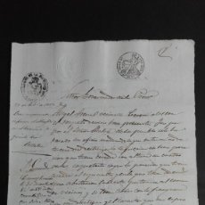 Manuscritos antiguos: PAPEL TIMBRADO SELLO DE OFICIO 4° 40 MS. 1853 CORESES ZAMORA . Lote 118441515