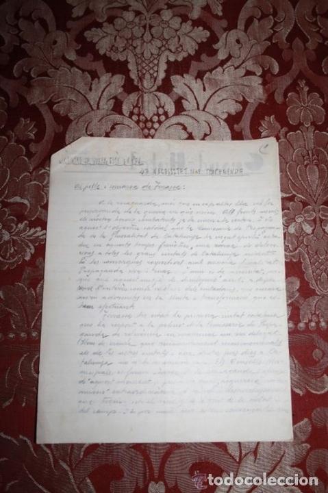 Manuscritos antiguos: INTERESANTE LOTE DE MANUSCRITOS ORIGINALES DE PERE ELIAS I BUSQUETA - AÑOS 34, 35 Y 36 - FIRMADOS - Foto 52 - 35687475