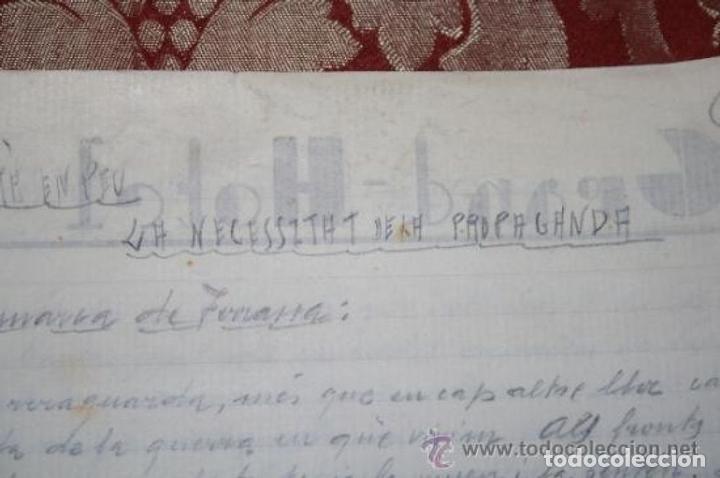 Manuscritos antiguos: INTERESANTE LOTE DE MANUSCRITOS ORIGINALES DE PERE ELIAS I BUSQUETA - AÑOS 34, 35 Y 36 - FIRMADOS - Foto 53 - 35687475