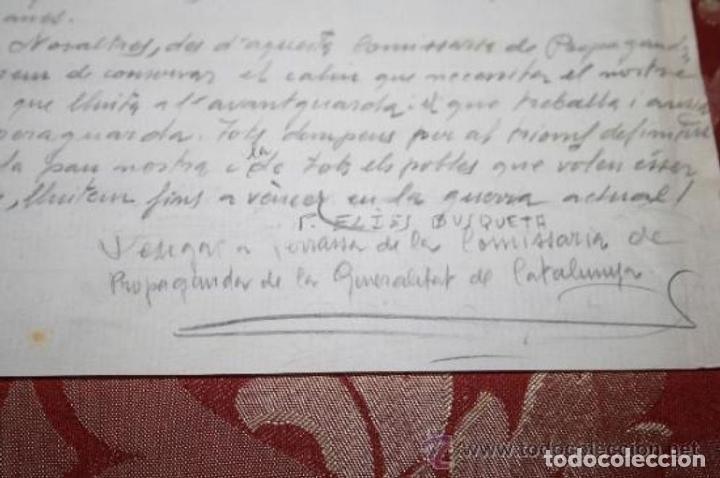 Manuscritos antiguos: INTERESANTE LOTE DE MANUSCRITOS ORIGINALES DE PERE ELIAS I BUSQUETA - AÑOS 34, 35 Y 36 - FIRMADOS - Foto 55 - 35687475