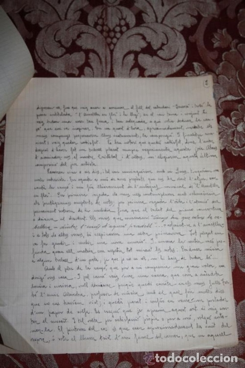 Manuscritos antiguos: INTERESANTE LOTE DE MANUSCRITOS ORIGINALES DE PERE ELIAS I BUSQUETA - AÑOS 34, 35 Y 36 - FIRMADOS - Foto 58 - 35687475