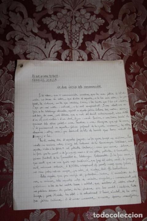Manuscritos antiguos: INTERESANTE LOTE DE MANUSCRITOS ORIGINALES DE PERE ELIAS I BUSQUETA - AÑOS 34, 35 Y 36 - FIRMADOS - Foto 61 - 35687475