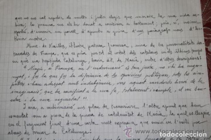 Manuscritos antiguos: INTERESANTE LOTE DE MANUSCRITOS ORIGINALES DE PERE ELIAS I BUSQUETA - AÑOS 34, 35 Y 36 - FIRMADOS - Foto 63 - 35687475