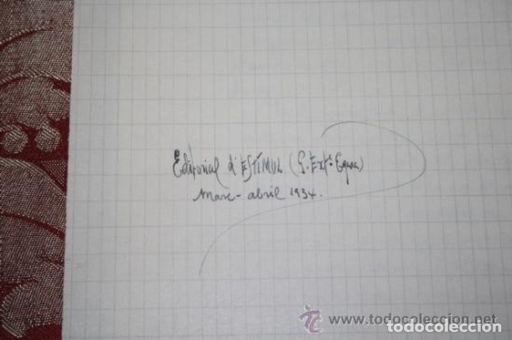 Manuscritos antiguos: INTERESANTE LOTE DE MANUSCRITOS ORIGINALES DE PERE ELIAS I BUSQUETA - AÑOS 34, 35 Y 36 - FIRMADOS - Foto 65 - 35687475