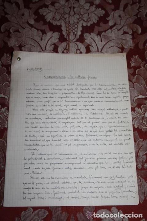 Manuscritos antiguos: INTERESANTE LOTE DE MANUSCRITOS ORIGINALES DE PERE ELIAS I BUSQUETA - AÑOS 34, 35 Y 36 - FIRMADOS - Foto 66 - 35687475