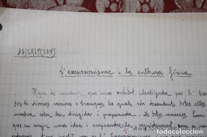 Manuscritos antiguos: INTERESANTE LOTE DE MANUSCRITOS ORIGINALES DE PERE ELIAS I BUSQUETA - AÑOS 34, 35 Y 36 - FIRMADOS - Foto 67 - 35687475