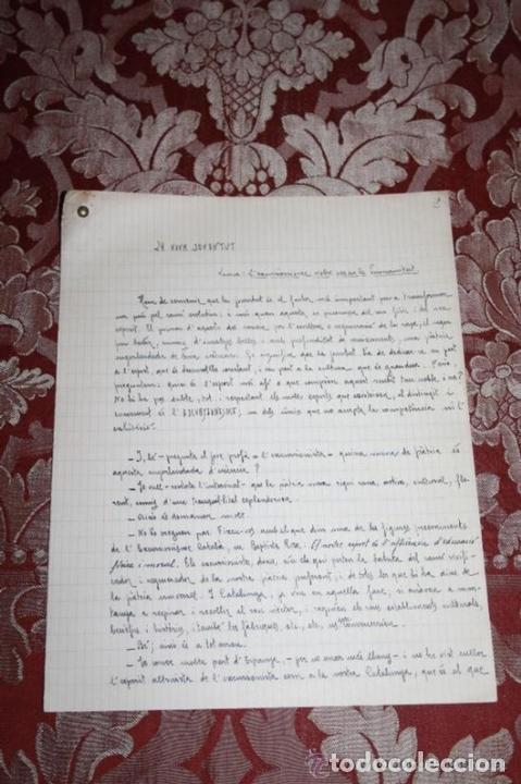 Manuscritos antiguos: INTERESANTE LOTE DE MANUSCRITOS ORIGINALES DE PERE ELIAS I BUSQUETA - AÑOS 34, 35 Y 36 - FIRMADOS - Foto 70 - 35687475